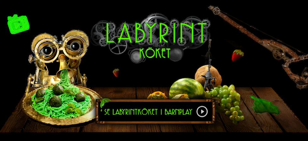 Länk för att komma till Labyrintköket i Barnplay.