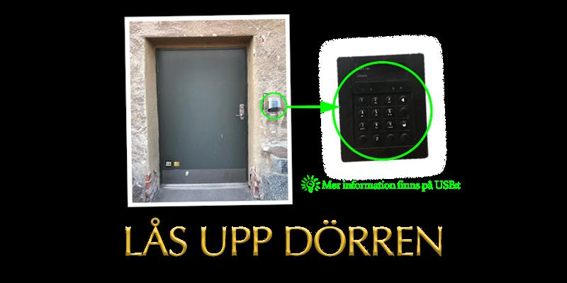 Tidigare uppdrag - Lås upp dörren. Tips! Kolla in USB:t för mer information.