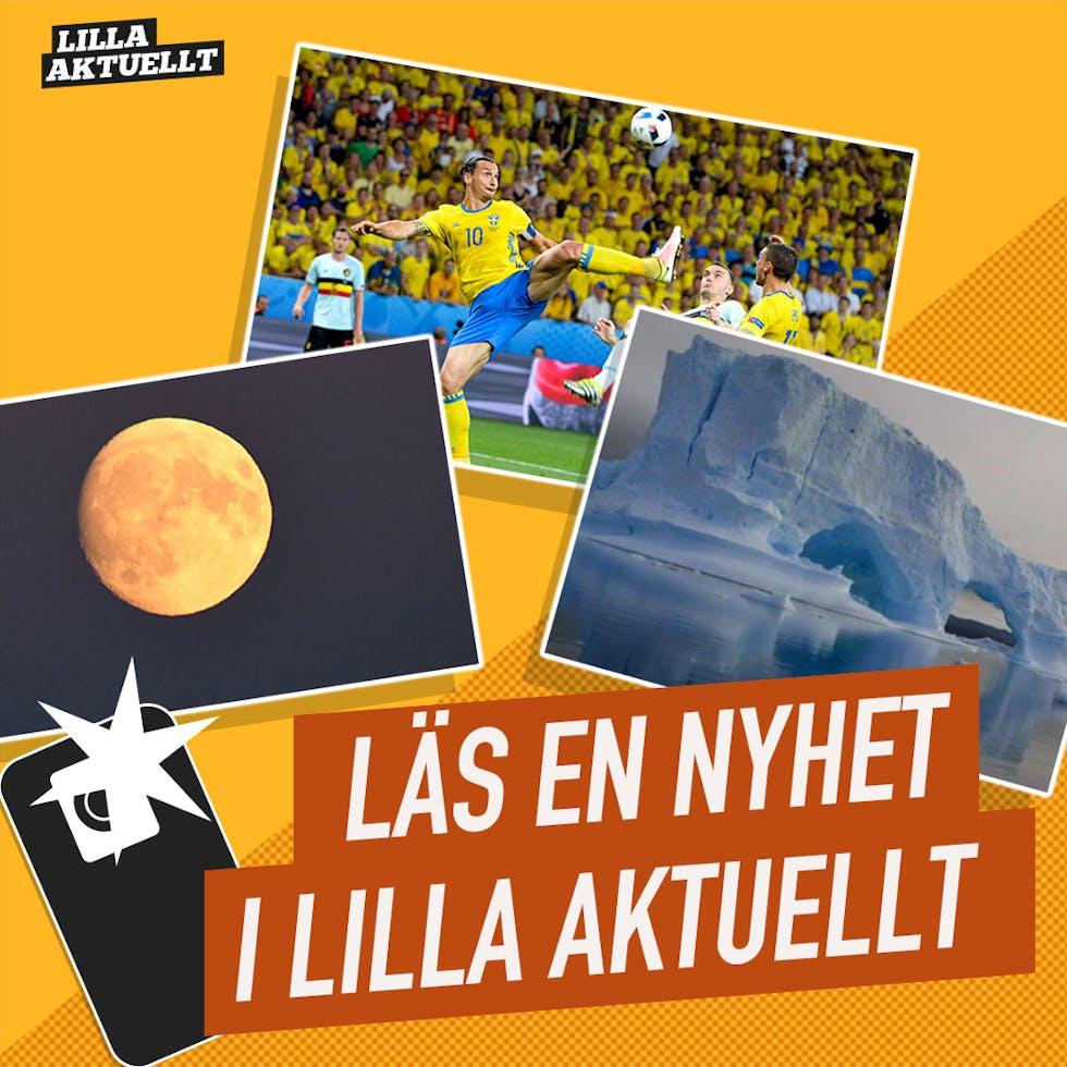 Läs en nyhet i Lilla Aktuellt - Zlatan, månen och antarktis