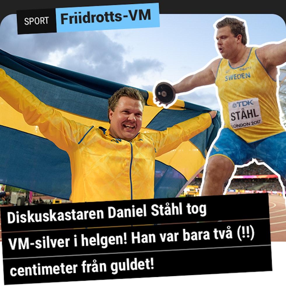 Daniel Ståhl vann diskus-silver i VM