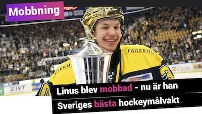Linus blev mobbad – nu är han Sveriges bästa hockeymålvakt