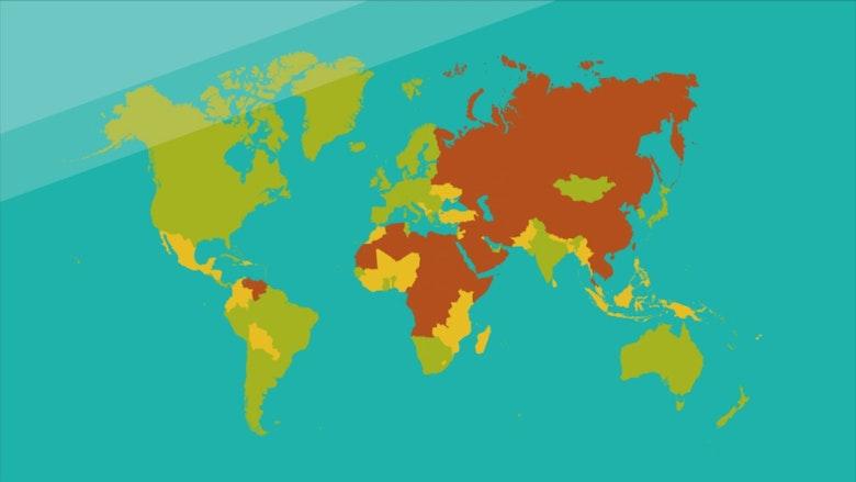Grafik demokratiska länder