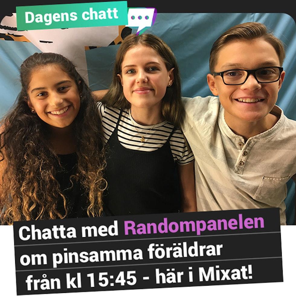 Dagens chatt: Chatta med Randompanelen om pinsamma föräldrar från kl. 15:45 - här i Mixat!