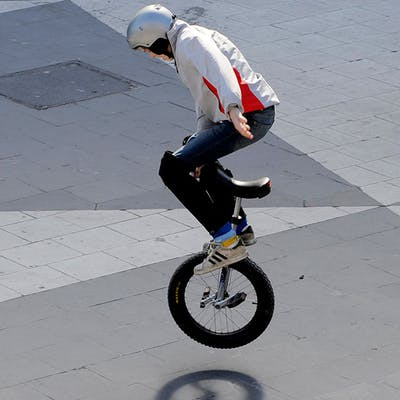 Enhjuling foto:TT