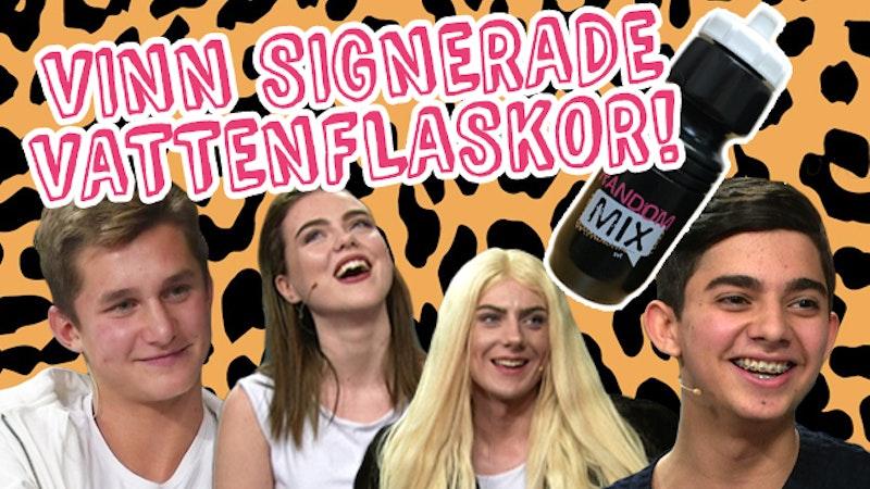 Vinn signerade vattenflaskor från fotbollsspelaren Leo Bengtsson, popduon Arrhult och musicallystjärnan Shaho Kadirzada!