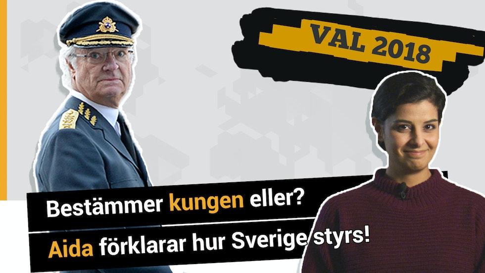 Bestämmer kungen eller? Aida förklarar hur Sverige styrs