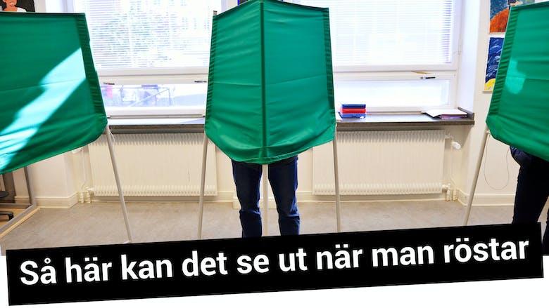 Valbås - så här kan det se ut när man röstar