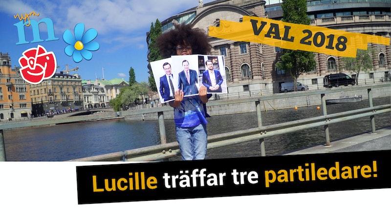 Lucille träffar tre partiledare